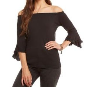 NWT Chaser peplum tee off the shoulder